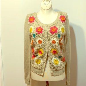 Flying Tomato crochet sweater sz S